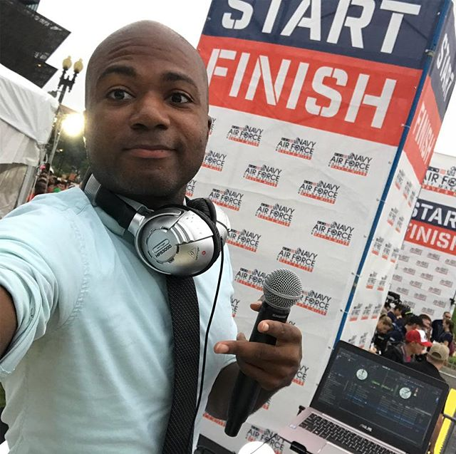 Proud to emcee & announce the @nafhalf for the 6th year & grateful to be celebrating 13 years of @scorpioentertainment this month.  Here's to the ups & downs of life as an entrepreneur working in entertainment. Do what you love and figure out how to keep up with the ups!  Congratulations runners! #scorpioDJs #nafhalf #navy5miler #racedaydj #entrepreneur #artist #djlife