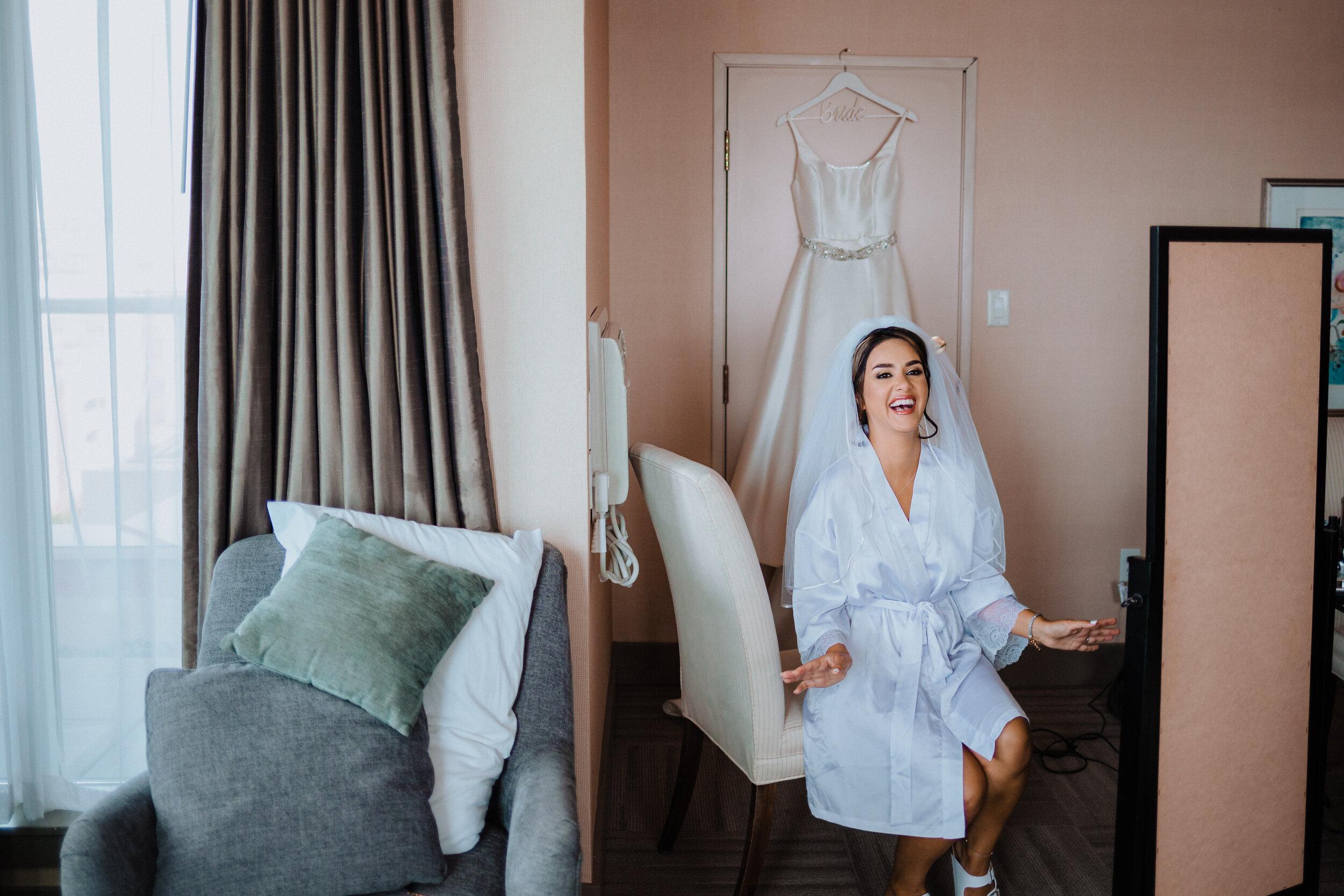 bridal suite at costal victoria hotel and marina - megan maundrell photography