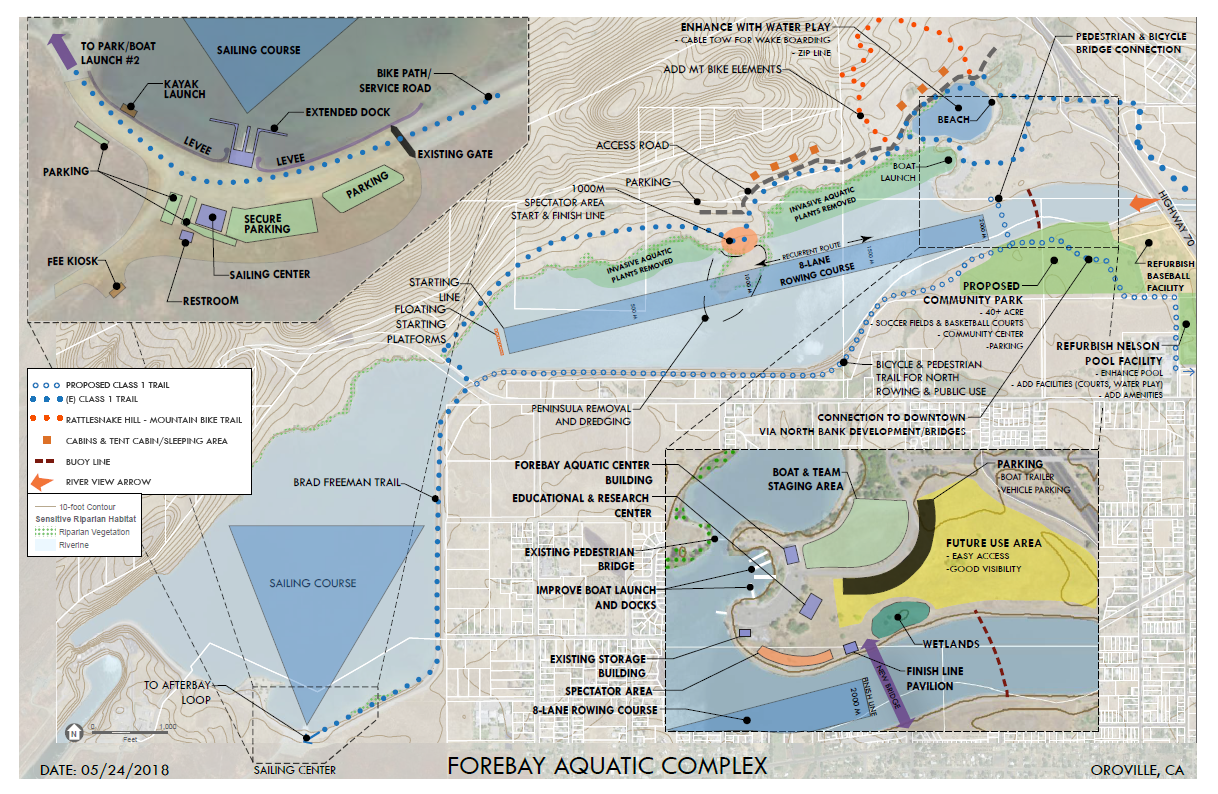 As in the Feather River Conceptual Plan; below is detail on the Rowing Course.
