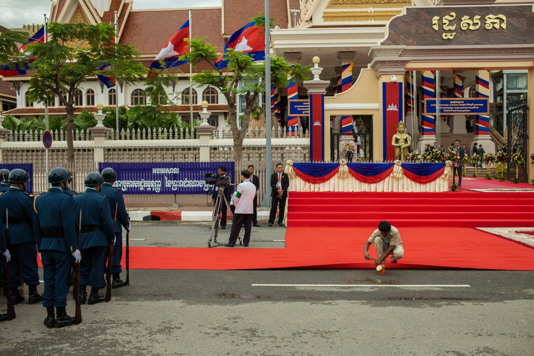 Opening ceremony of the Cambodian National Assembly.