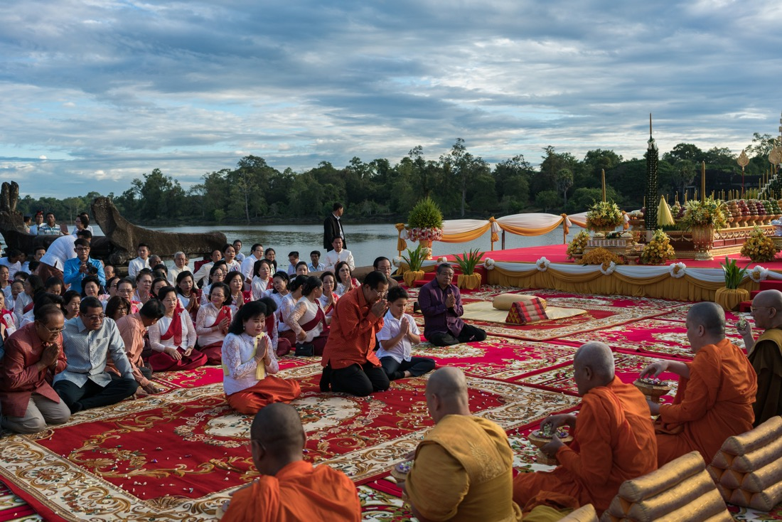 Praying Ceremony for Happiness to the Kingdom of Cambodia