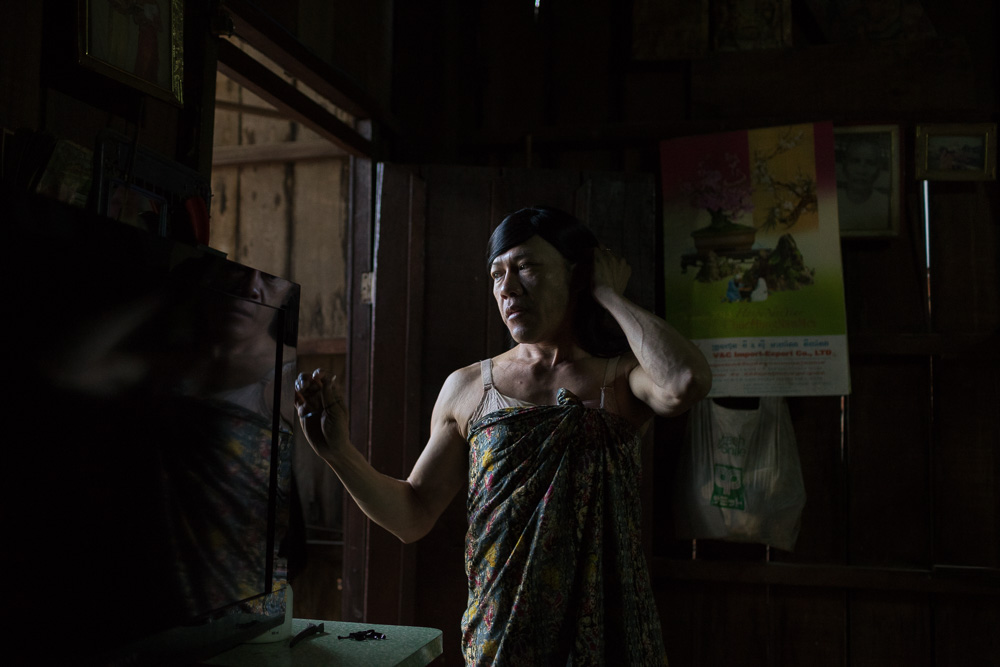 August 08, 2014 - Phnom Penh. Champa is the first openly transgender boxer in Cambodia. Because of the discrimination she endures as a transgender boxer, she was forced to quit her profession and became a sex worker. She now earns her living educating sex workers about their rights and occasionally turning to sex work herself. She was diagnosed with HIV twelve years ago. © Thomas Cristofoletti / Ruom