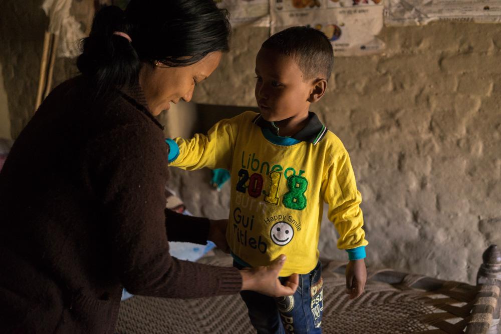 Jharana Kumari Tharu - female community health volunteer in Bina