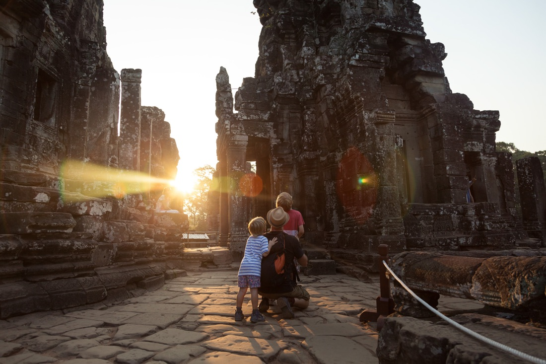 March 31, 2014 - Siem Reap. Tourists visit the Bayon Temple. © Thomas Cristofoletti / Ruom