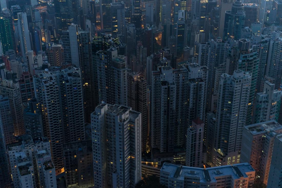 December 29, 2014 - Hong Kong. The Hong Kong skyline from The Peak. © Thomas Cristofoletti / Ruom