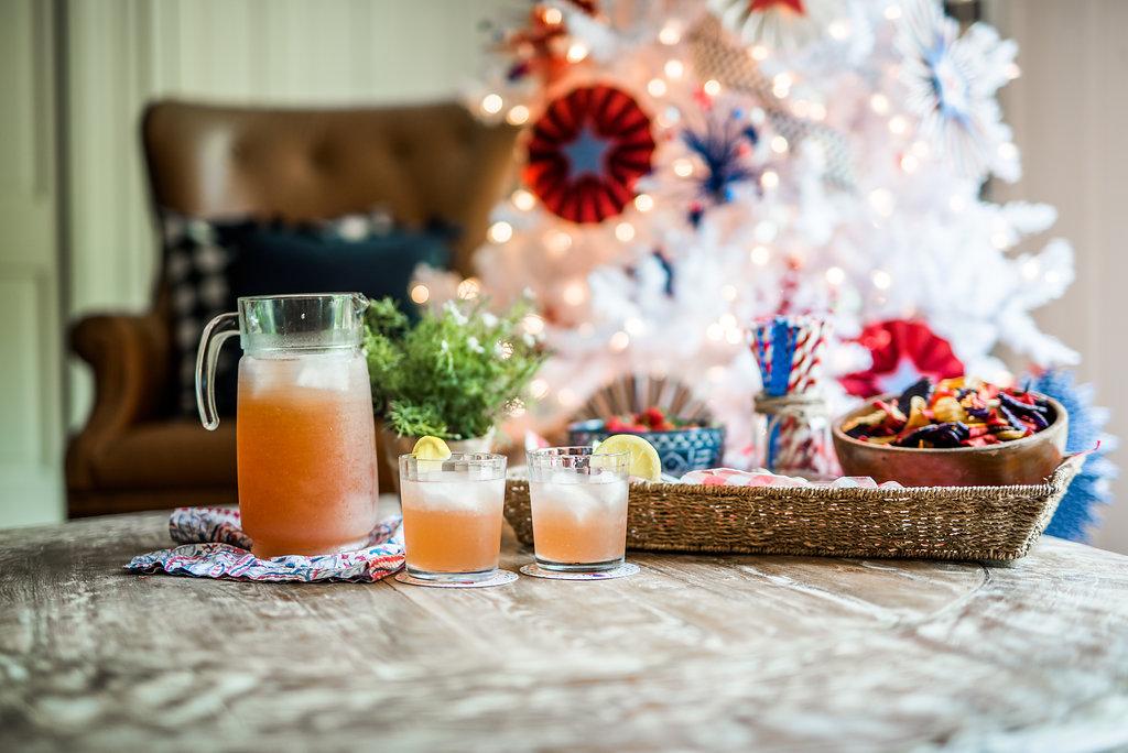 Lemonade champagne Punch, Photos by Rachel Cuthbert Photography