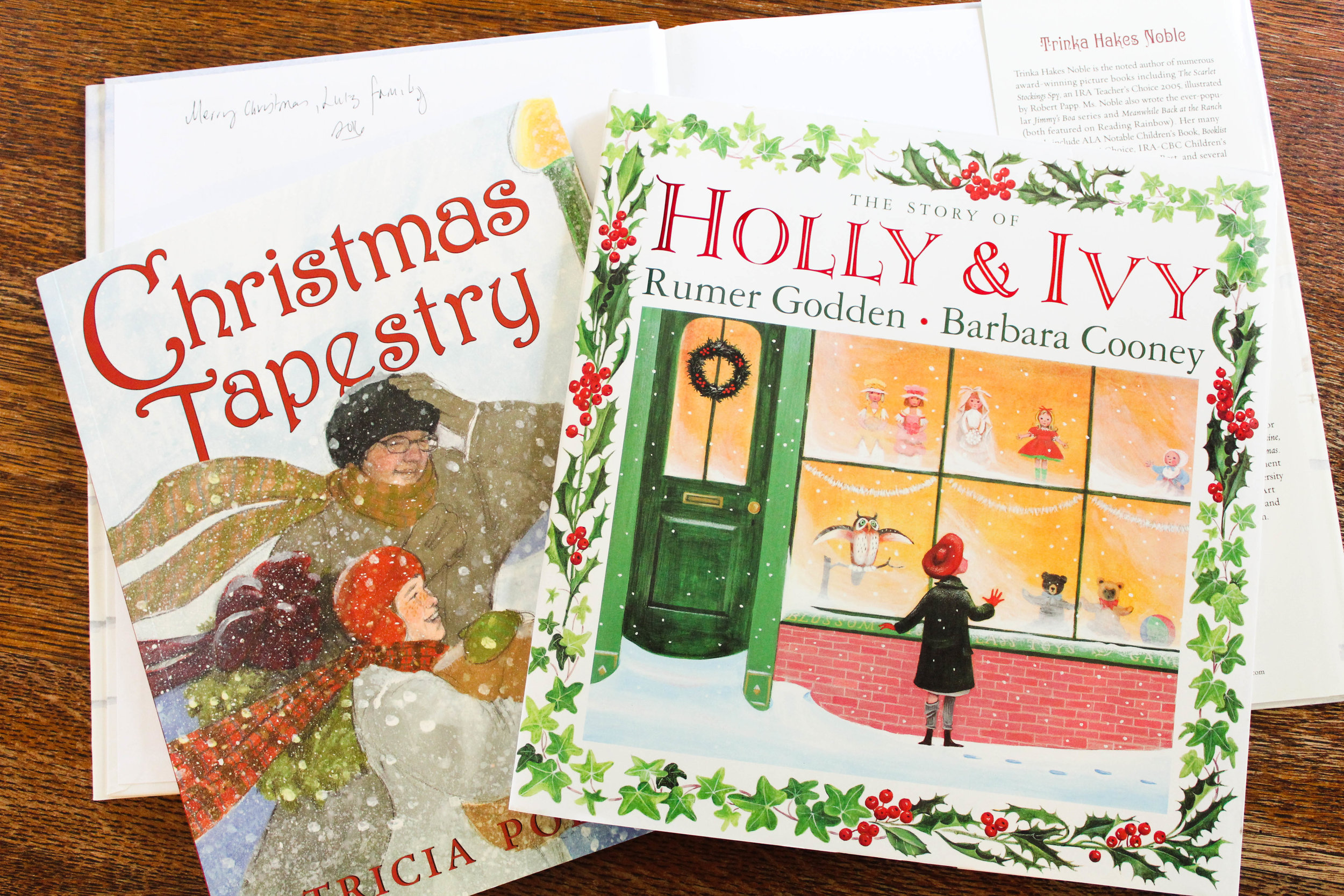 Two of our favorite Christmas books. ANd honestly, we love anything from Michigan author, Patricia Polacco.