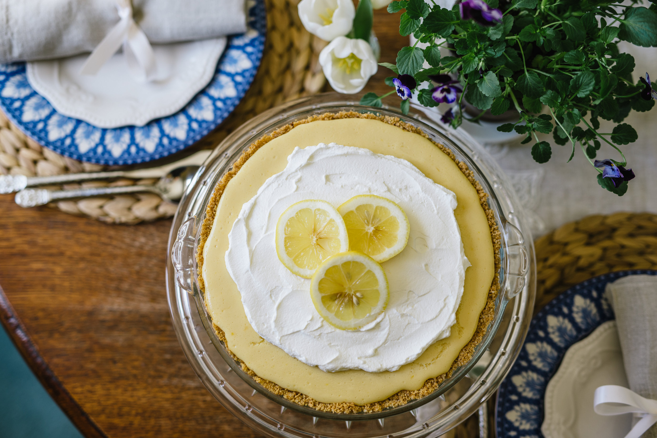 Lemon pie from the Magnolia Table Cookbook.