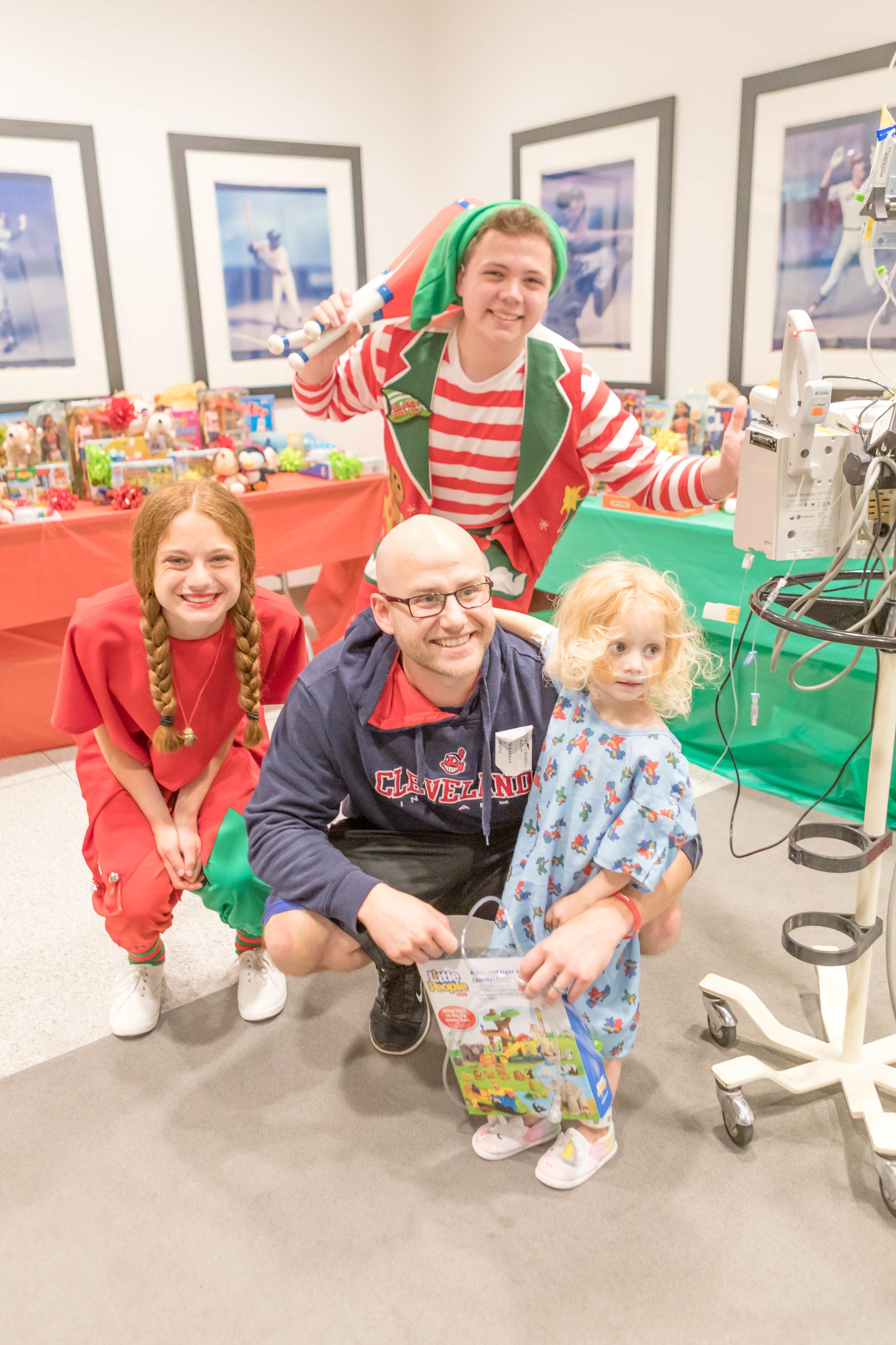 A patient with Santa's elves!