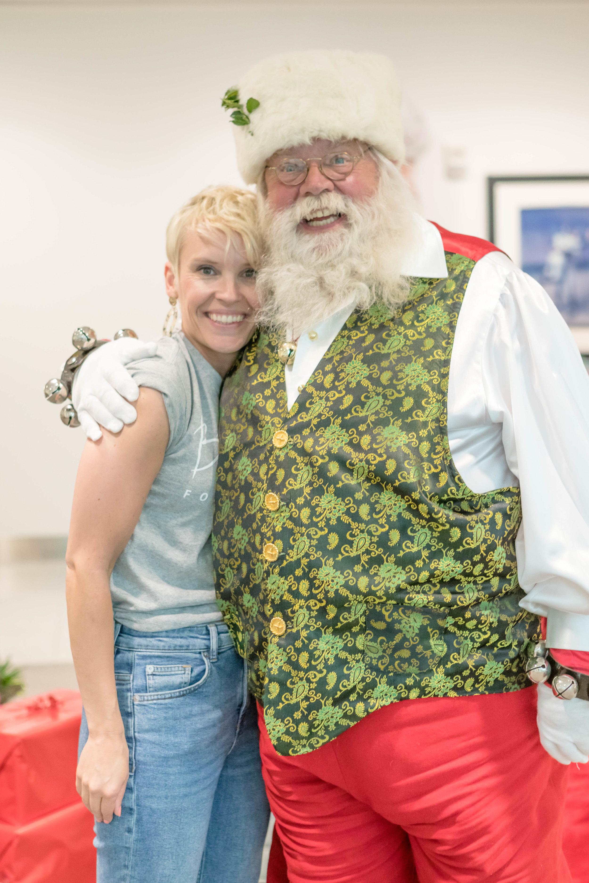 Sara &  Santa .