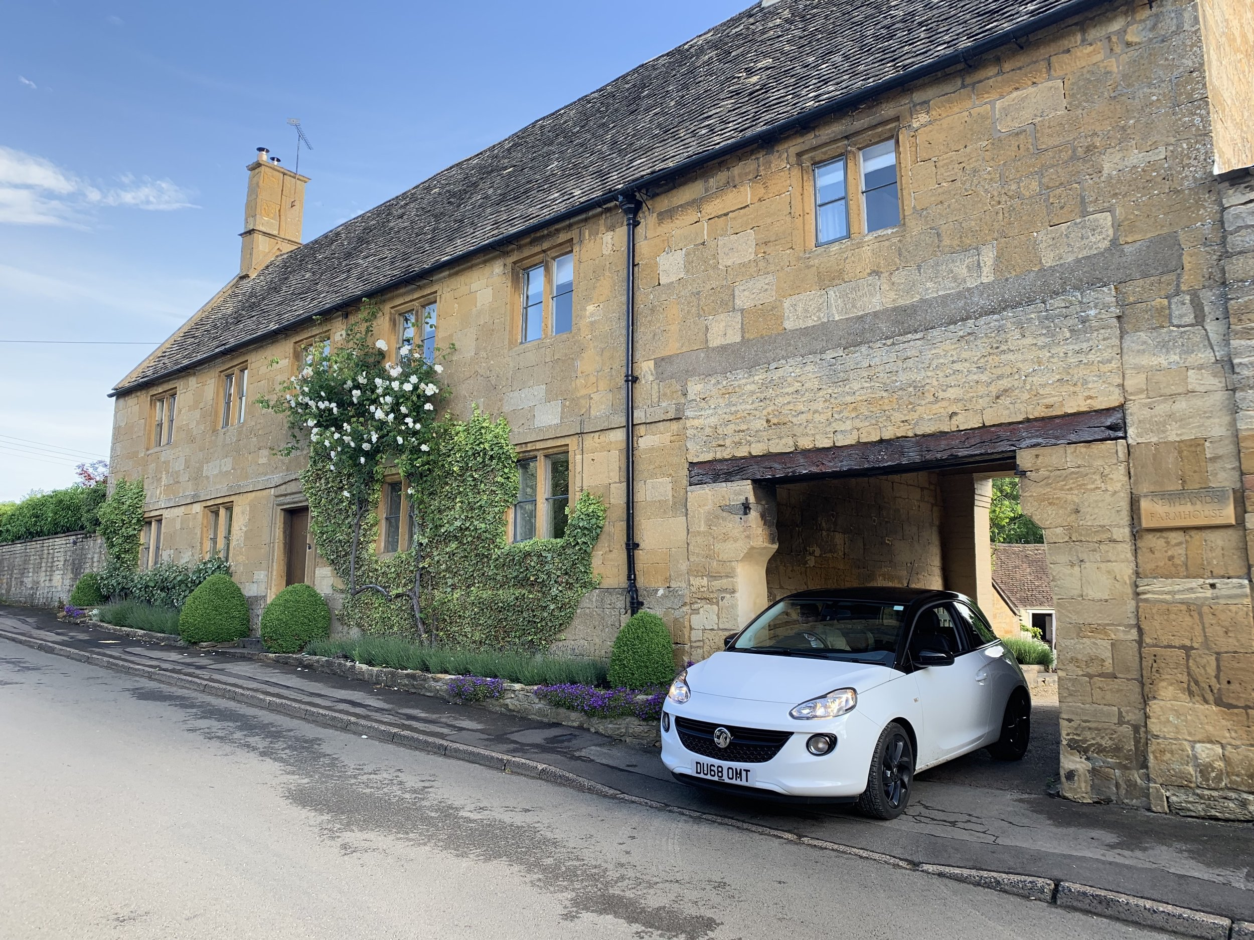 Leaving our AirBnB in the Cotswolds. We had a little apartment above this picturesque home. A perfect place to start off our vacation! And that's our cute little bumper car. The miracle is that we made it our alive. Brock was a champ driving on the left side of the road. I had to work really hard at not scaring him to death with unwelcome teeth gritting and audible praying/grimacing as we hugged the left side of the road.