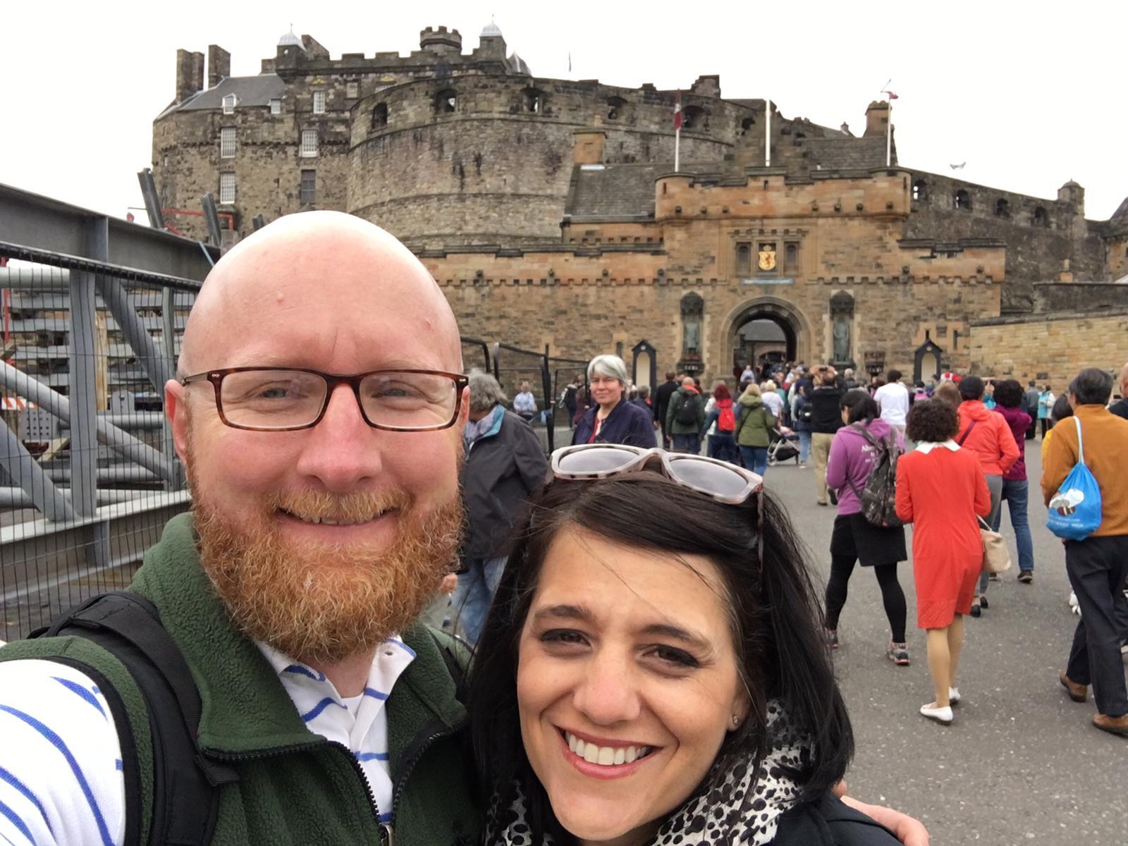 Me and Brock - Edinburgh Castle.
