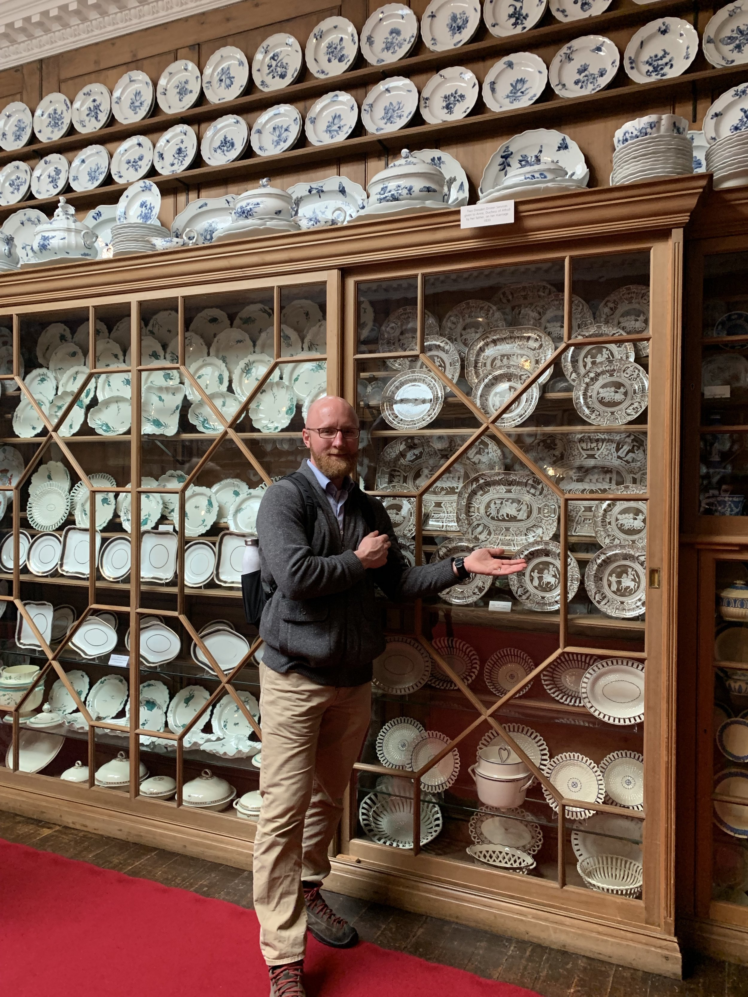 Just one of many china collections! I'm a sucker for dinnerware.  Blair Atholl Castle, Scotland
