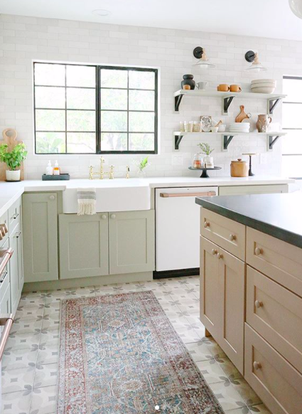 This is a flip house that she remodeled—the  kitchen is beautiful  but also filled budget friendly products. Photos via  https://www.instagram.com/jennykomenda/,  here's a  full post  about this remodel.
