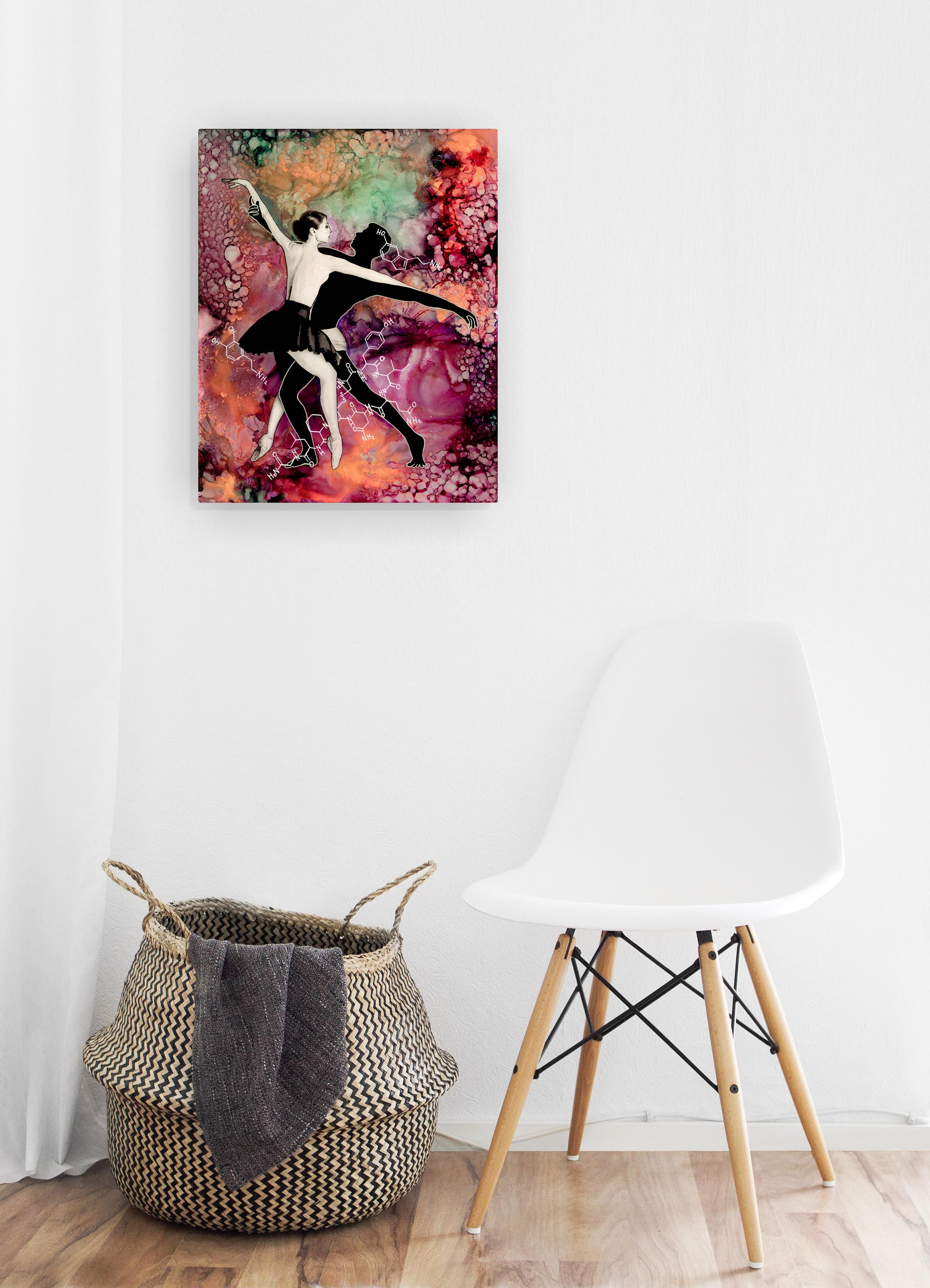 "Hanging Wall Prints - 16"" x 20"" contemporary prints on recycled aluminum with a glossy finish and mounted to float off the wall 3/4""."