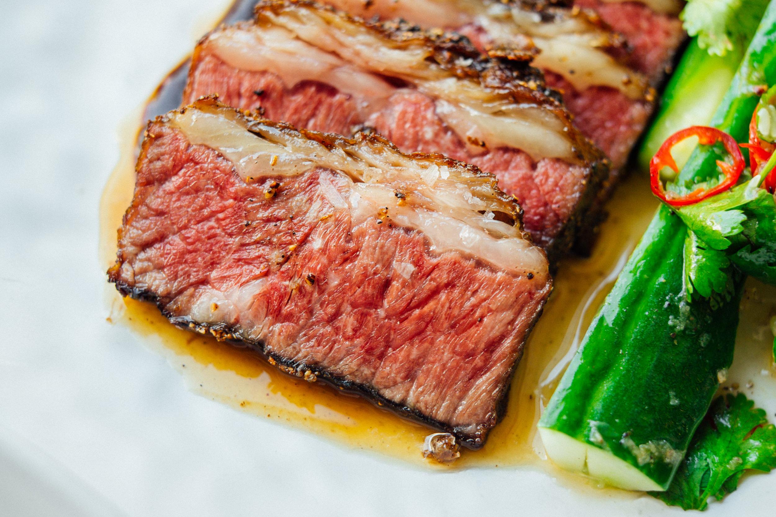 24 Hour Beef Short Rib, Smoked Hoisin, Cucumber