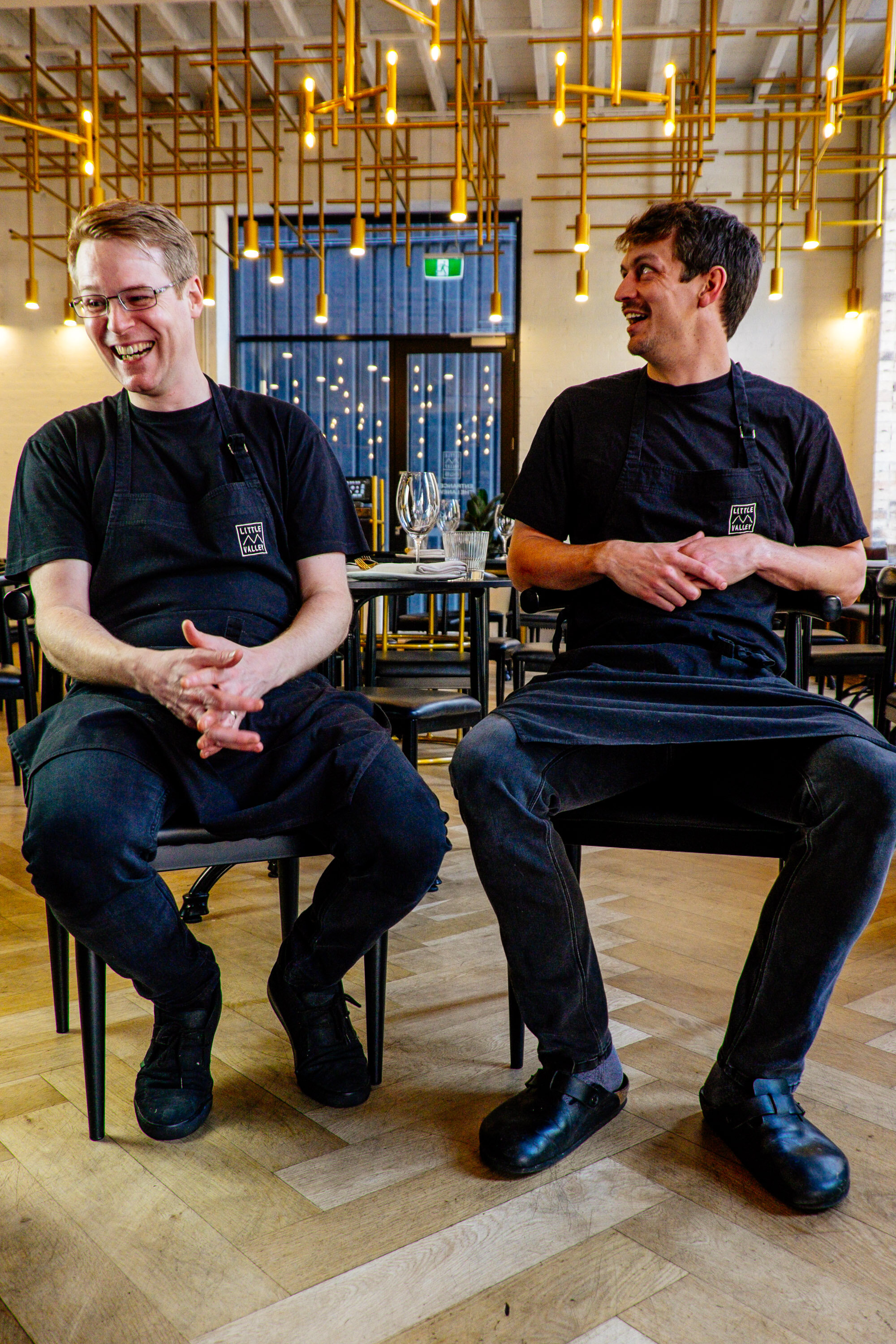 """""""""""You always need to move forward, and if it tastes good, it's good. Then Simon and I work on the plating and execution. It's important that our ideas will still flow in the kitchen when it's at its busiest."""" - Pictured: Sous Chef Simon Hanmer and Head Chef Jake Pregnell"""