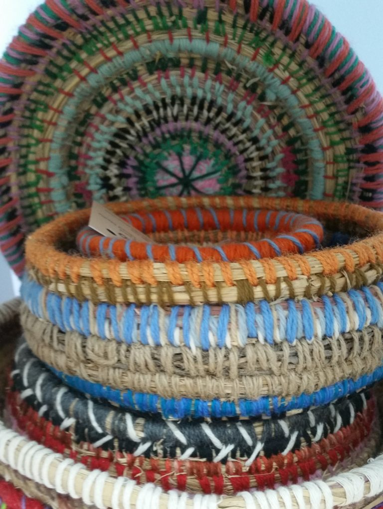 Leslie Atkins basket weaving