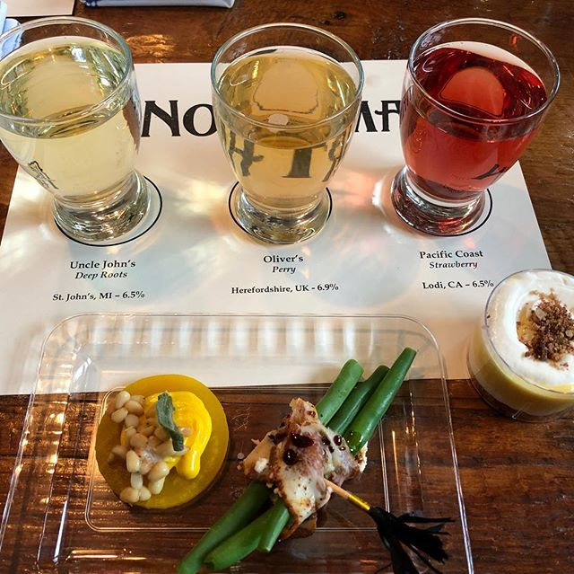 We had a fantastic first day of #cidercon2019! Thanks to @thenorthmanchi, @erischicago, @rightbeecider, and @farmhousechicago for hosting us. They each presented us with delicious pairings that demonstrated the four techniques of cut, contrast, complete, and compliment. Swipe to see more!