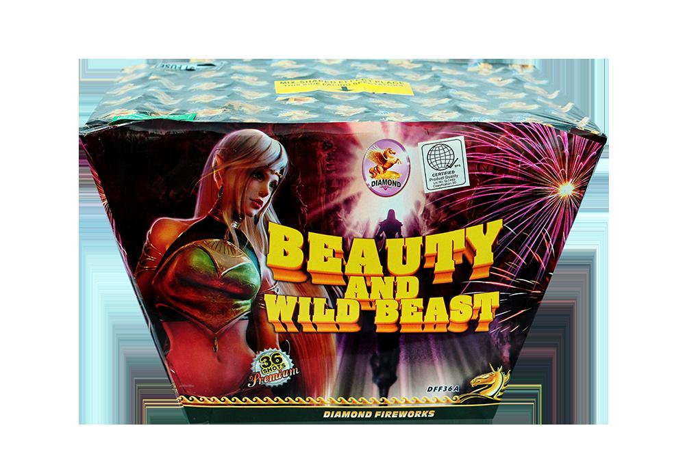 "36 shots-Beauty and Wild Beast-1.2"" Fan Shaped blue wave to red wave to gold wave to silver wave to popping star NEW!!!"