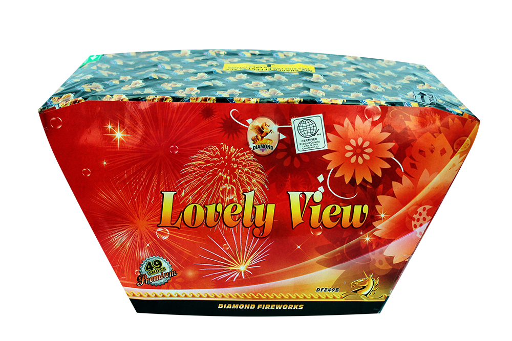 "Lovely View-49shots 1.2"" Z Shaped assorted colors & effects Great for finale's! NEW!!!"
