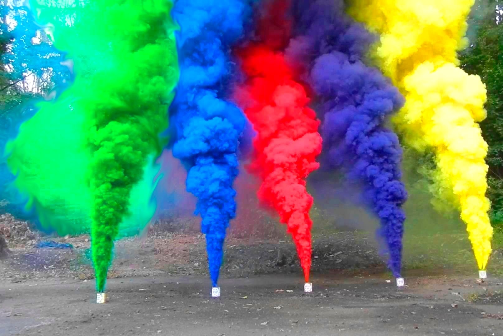 Assorted Colored Smoke- Available 6 Colors-Green, Blue, Red, Purple ,Yellow and White