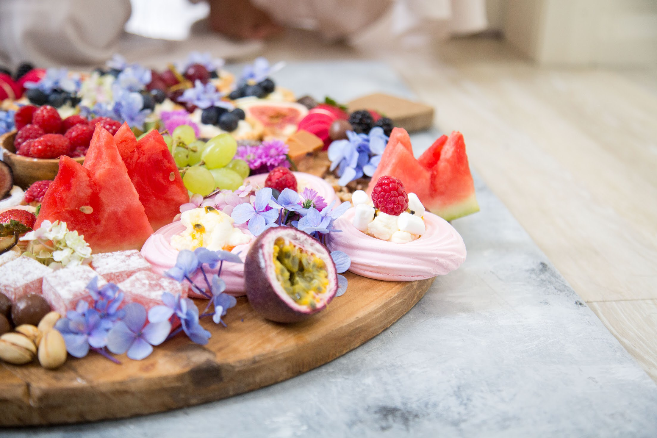 Fruit is natures candy so use it in abundance for your dessert boards.