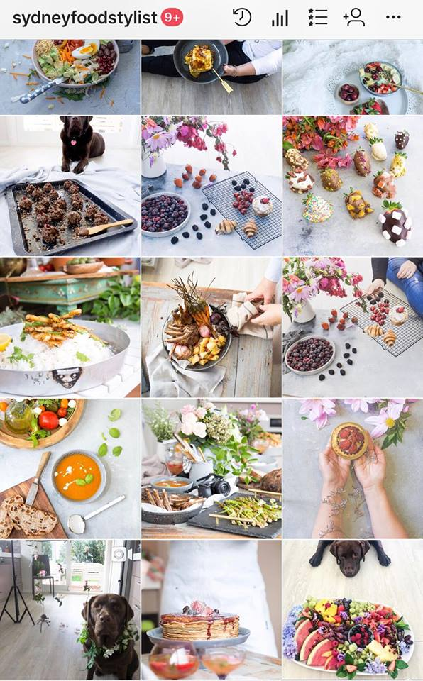 My food styling page tells a story of my brand. Make sure your feed looks enticing and your content is fresh and original.