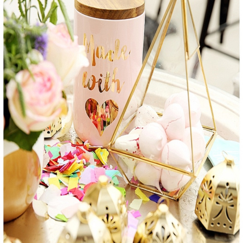 """Confetti is your """"friend' a touch of this colourful tissue paper sprinkled on a table can be a pretty detail"""