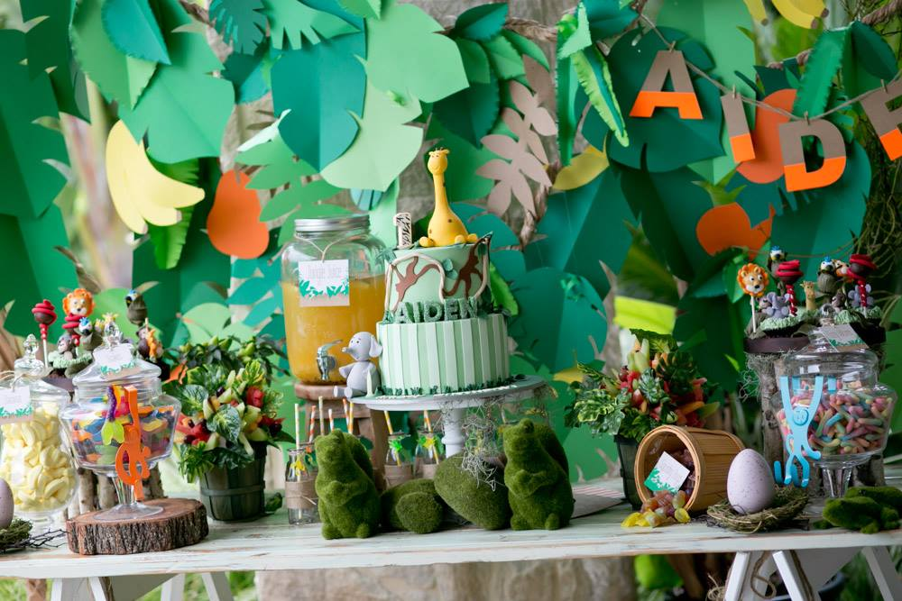 A Jungle themed party full of fun touches.