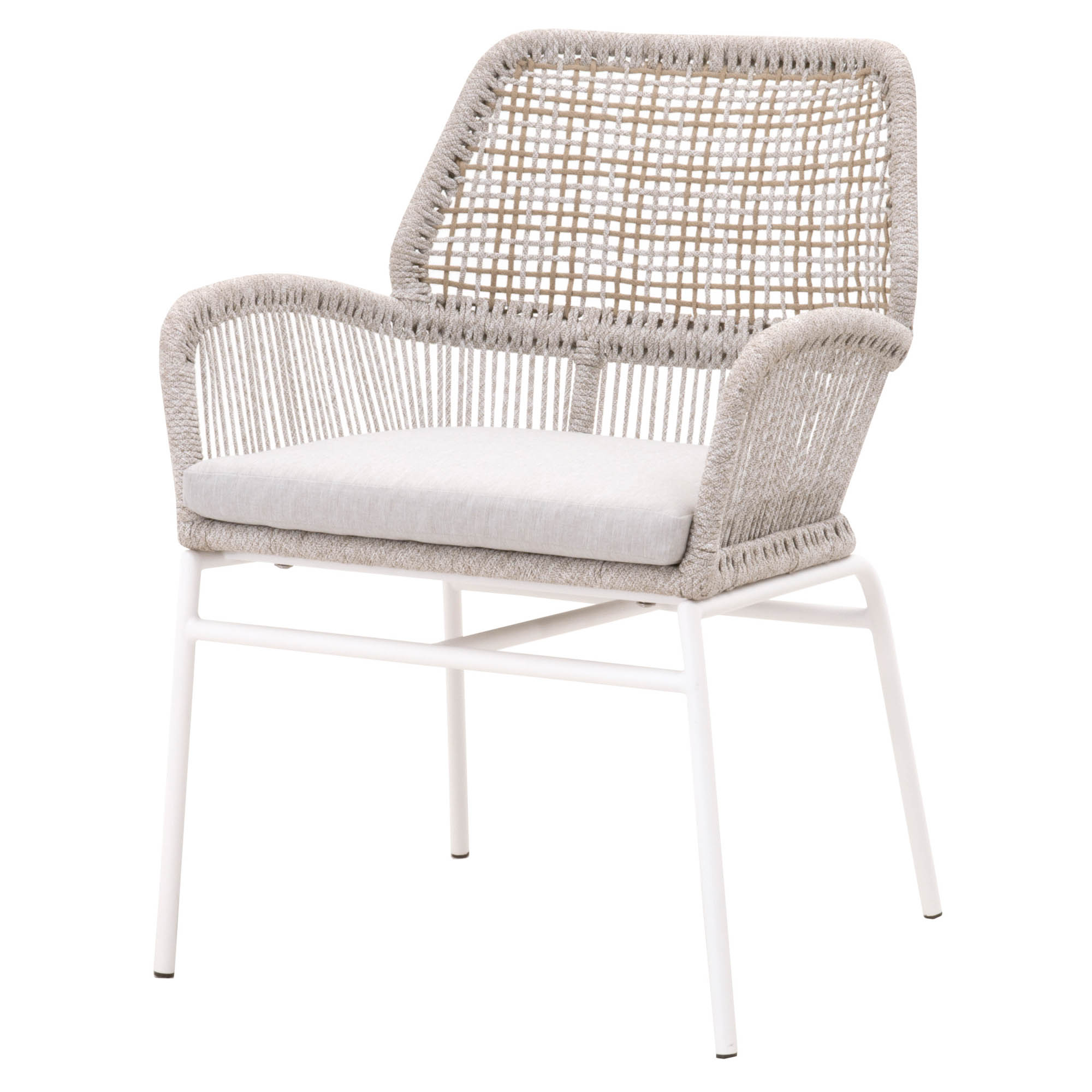 Knit Outdoor Arm Chair - Taupe - 2.jpg