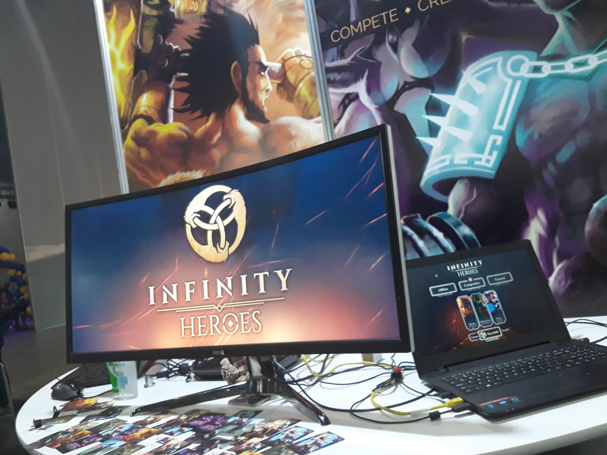 Part of the Infinity Heroes Booth at PAX Aus