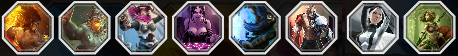Icons of our current hero lineup