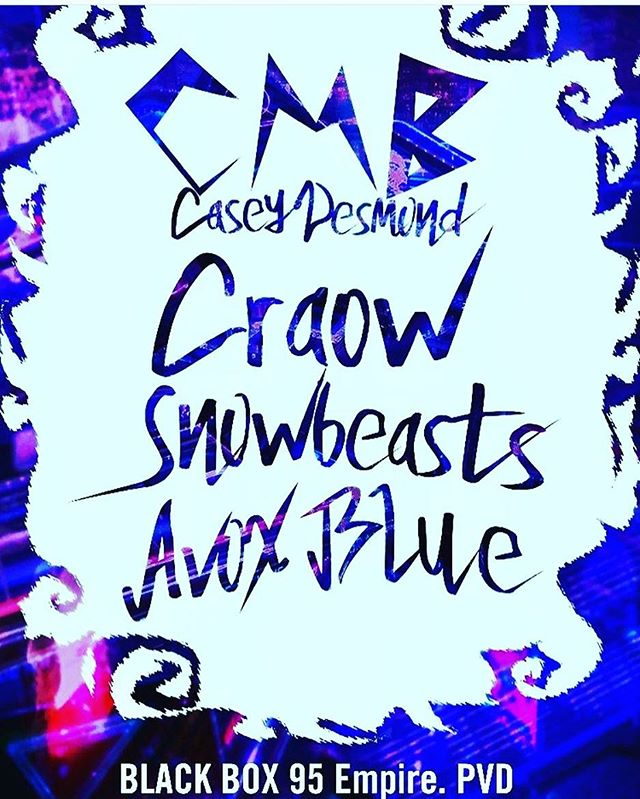 My #pvd #peeps - Friday w sexxy #snowbeasts #craow and label mate @avoxblue /// @rbrtglbrth @trainingfangs @cmbsynth lets gets #synthsexual