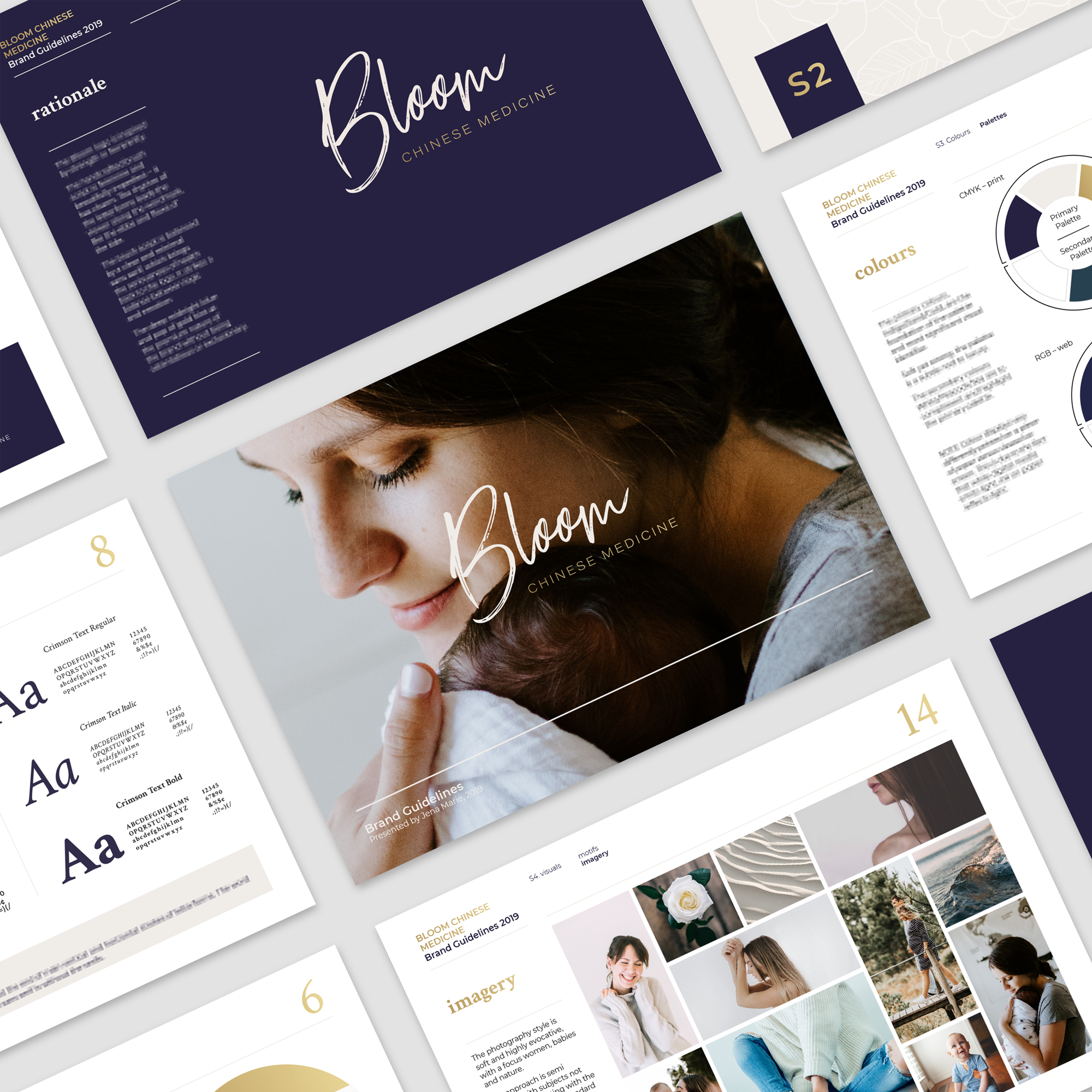 Interested to know more about Branding with Jena Marie? - A strong visual identity is key to forming an initial connection with potential customers. Check out this case study which details my branding process for Bloom Chinese Medicine.