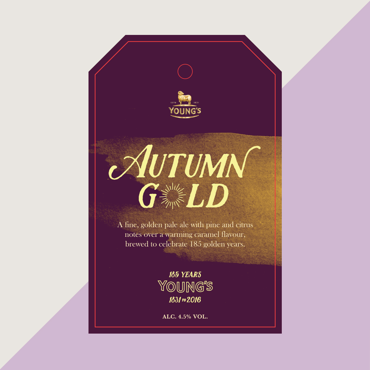 Young's Day Autumn Gold chosen logo on beermat