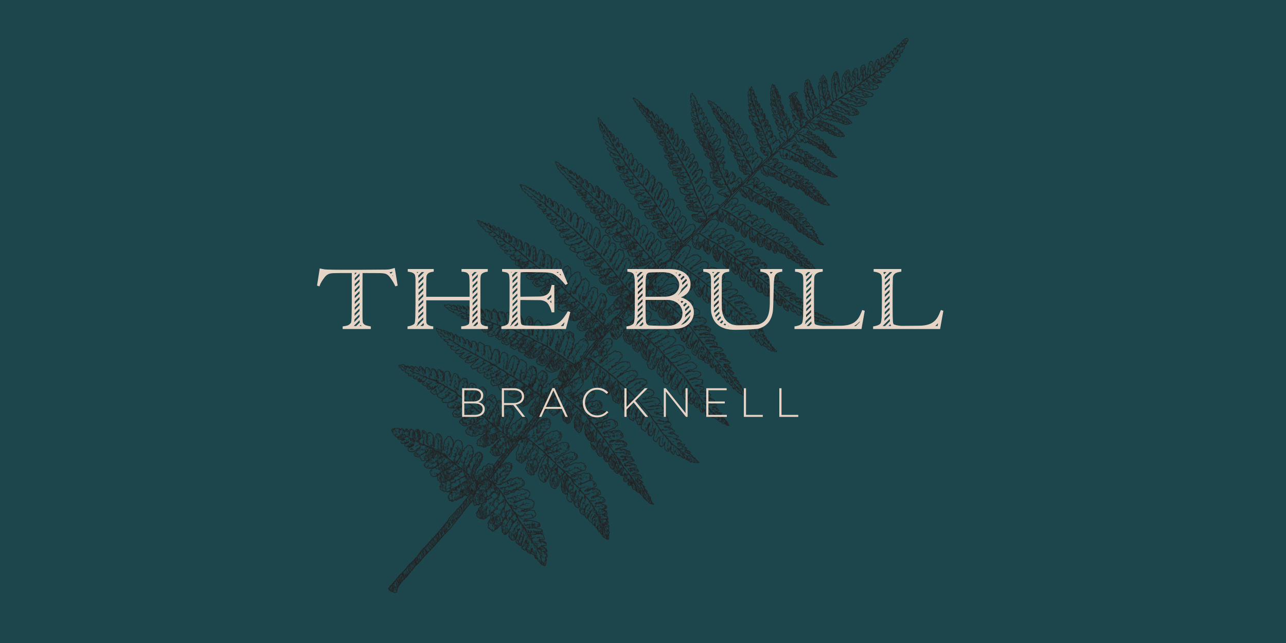The Bull Bracknell rebrand logo on custom fern illustration