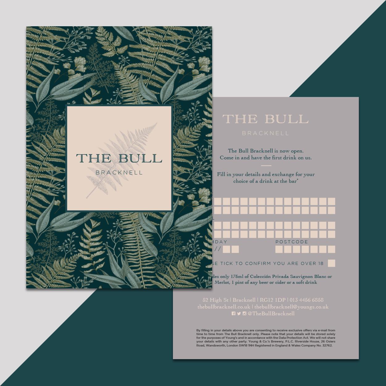 The Bull Bracknell rebranded stationery bounceback