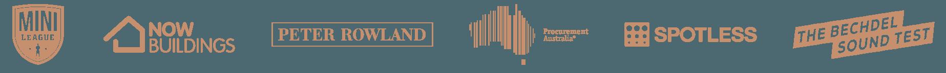 Clients: Mini League, Now Building, Peter Rowland, Procurement Australia, Spotless, The Bechdel Sound Test