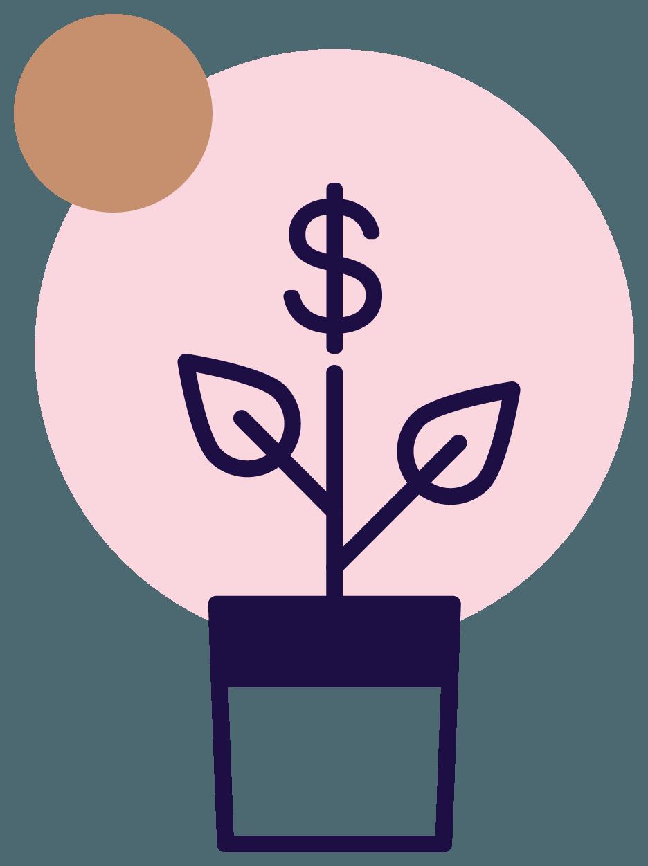 Jena Marie illustration money plant