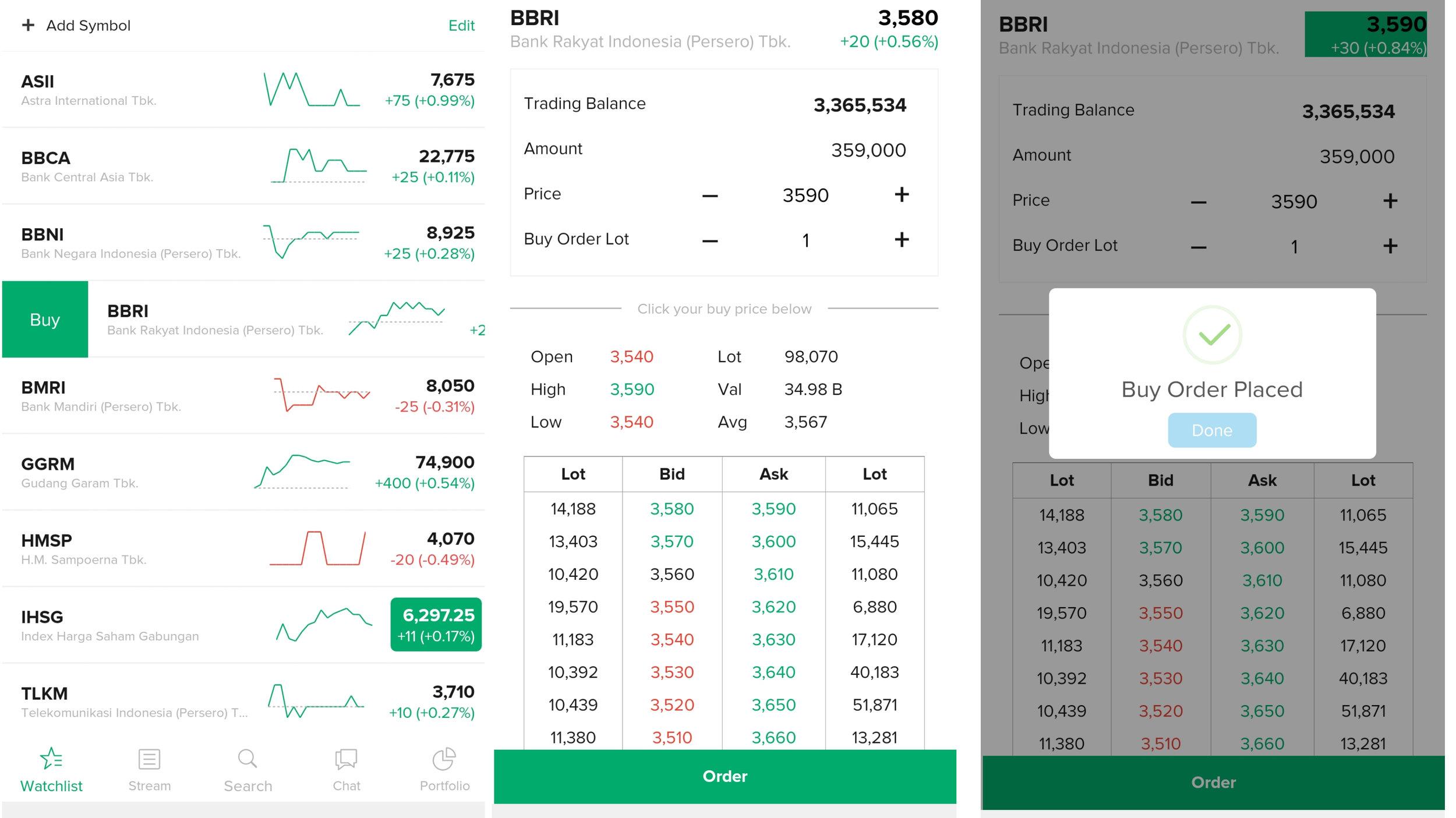 Beli Saham Mudah di Stockbit App