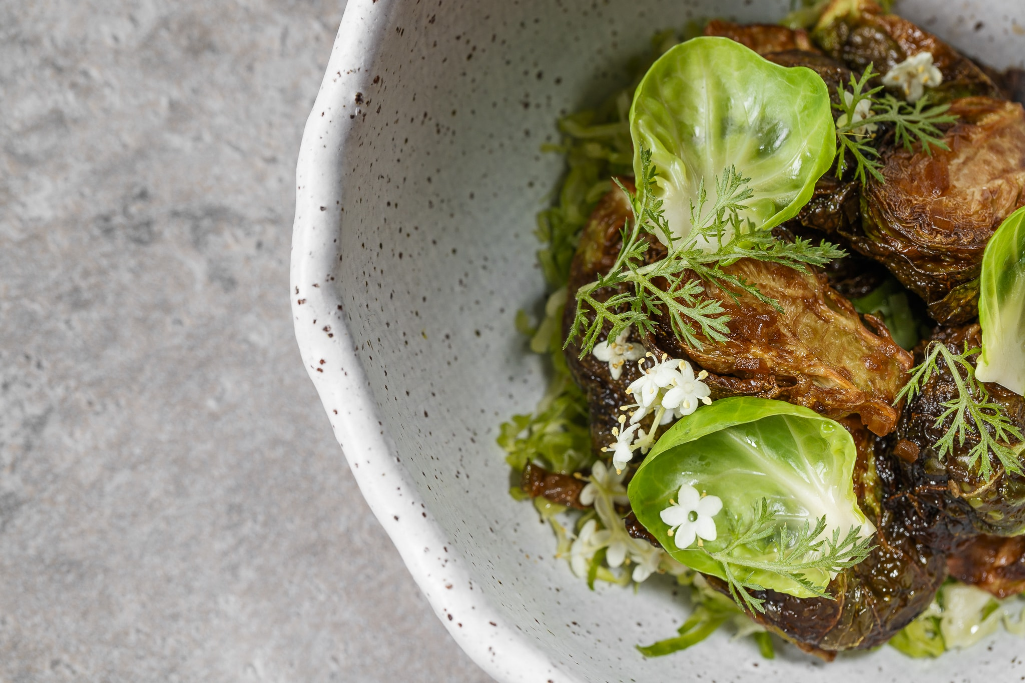 fried brussel sprout • shallot • soy • 2009