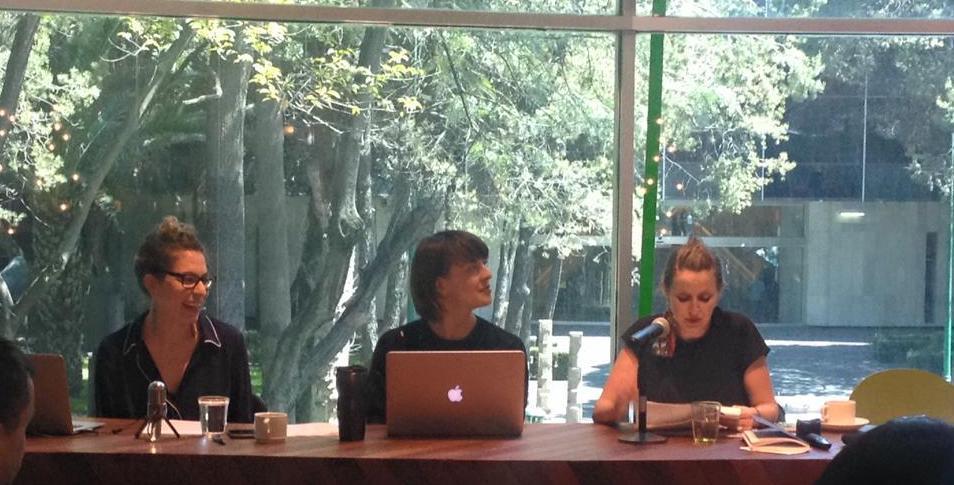 Art historian Dr Jordan Amirkhani (American University Washington), visual artist Alicja Rogalska and legal historian Dr Rose Parfitt