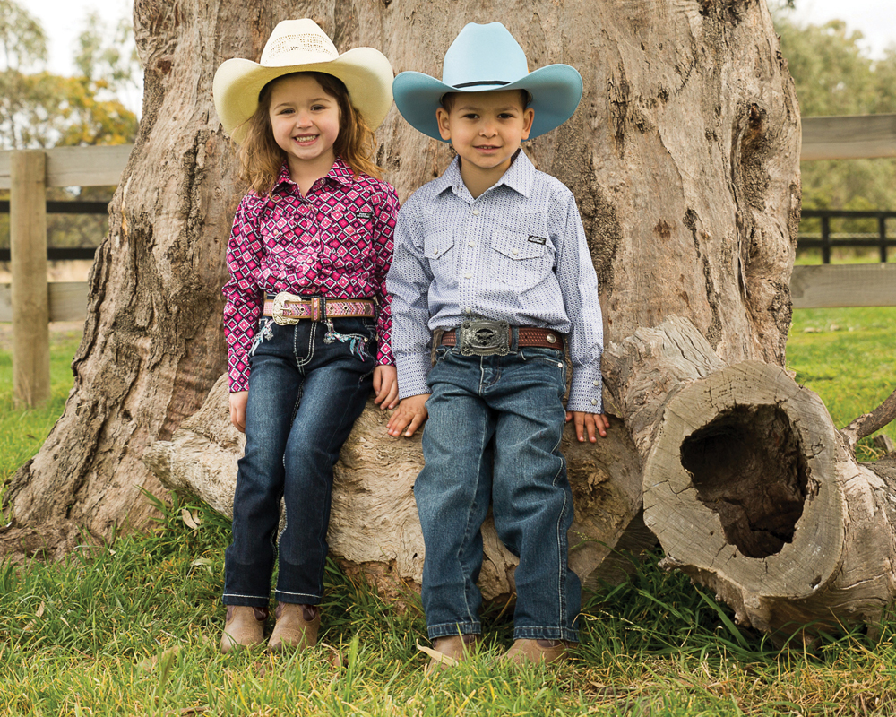 Children's Fashion - Boots and jean for our little farmers