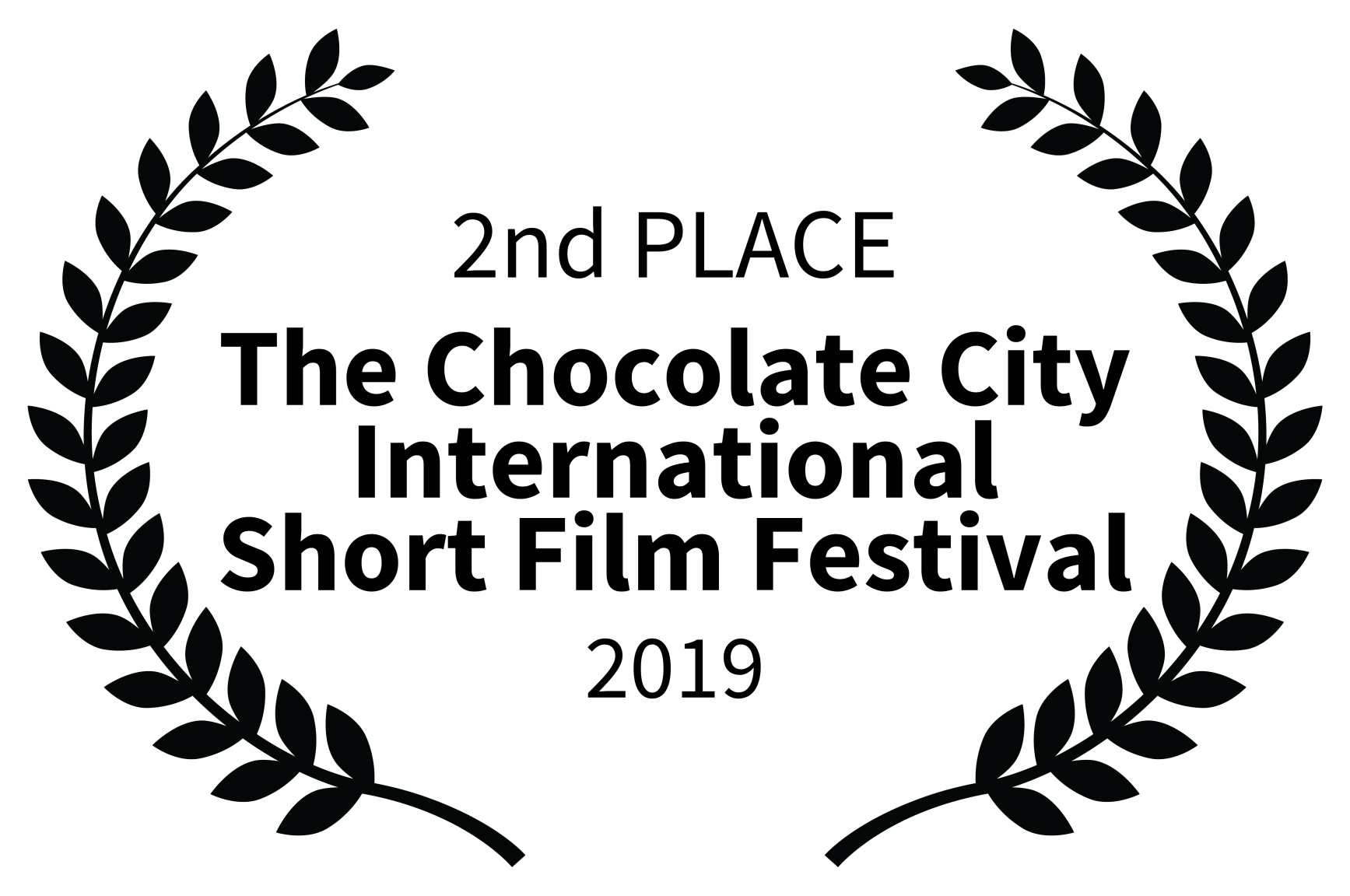 2nd PLACE - The Chocolate City International Short Film Festival - 2019.png