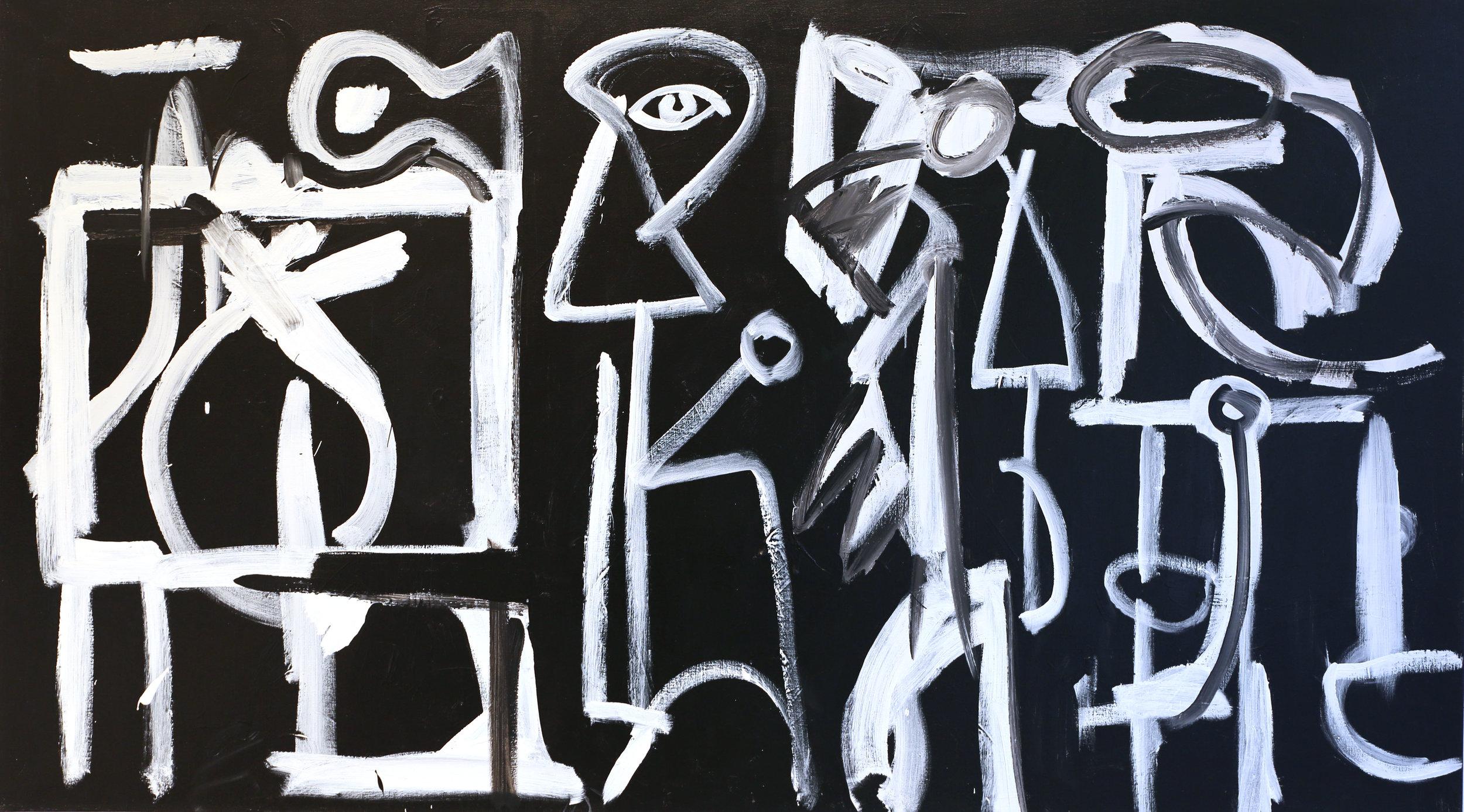 DICK WATKINS   The Kitchen , 2990  acrylic on canvas  137 x 244 cm