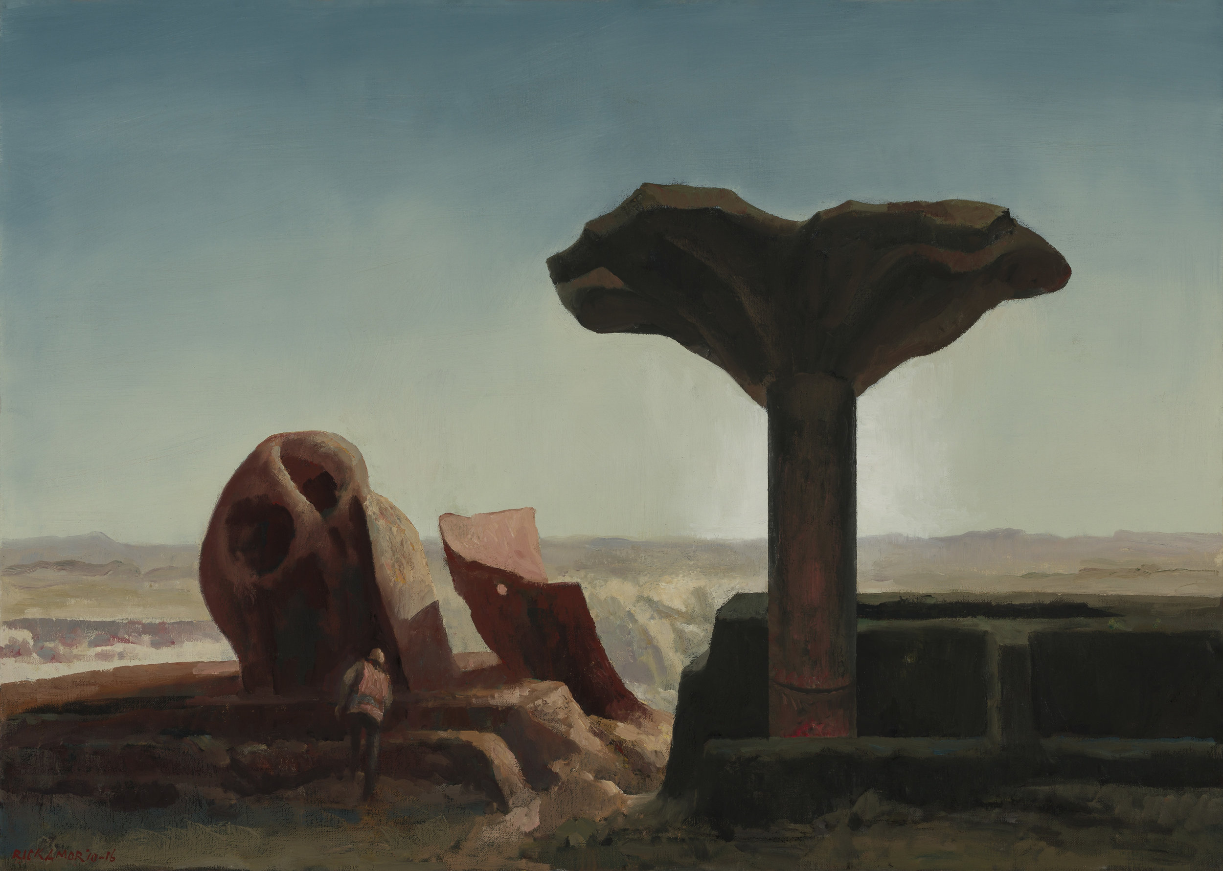 RICK AMOR   Stay for the iron tree , 2010-2016  oil on canvas  65.5 x 92 cm