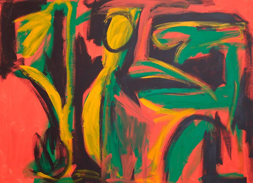"A scene from ""Pellets et Melisandre"", 2017  acrylic on canvas  122 x 167 cm"