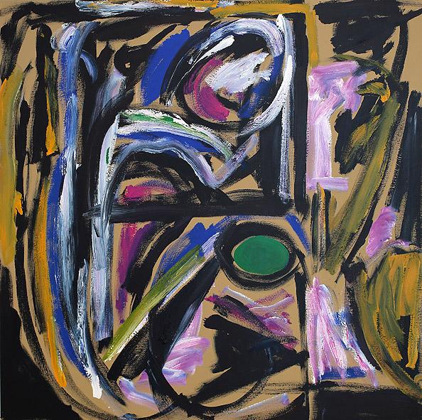 Blue Monk , 2018  acrylic on canvas  137 x 137 cm