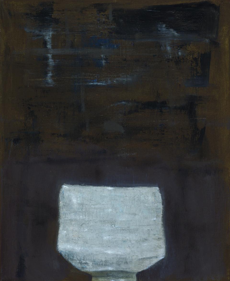 White tea bowl , 2017  oil on canvas  51 x 41 cm